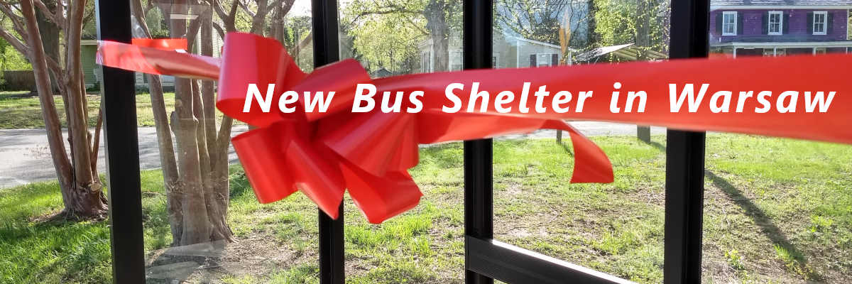 First Bay Transit Bus Shelter in the Northern Neck