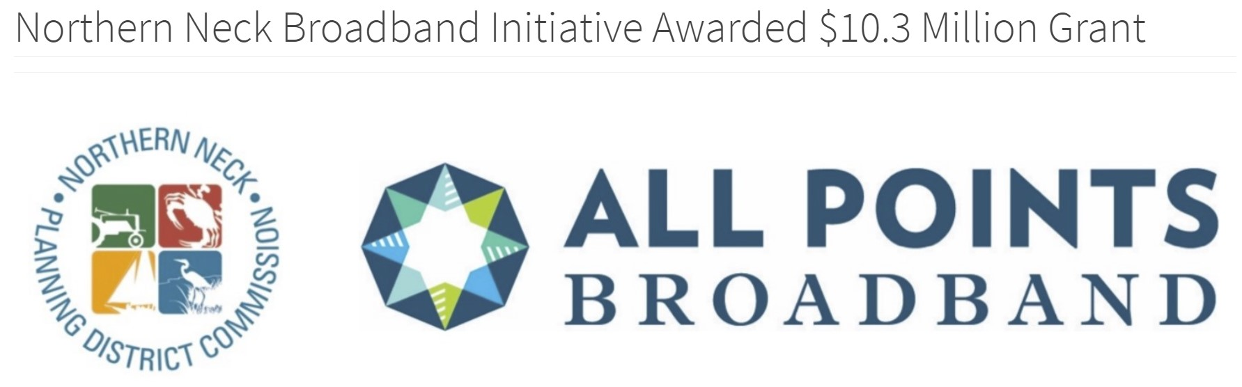 Northern Neck Broadband Initiative Awarded $10.3 Million Grant